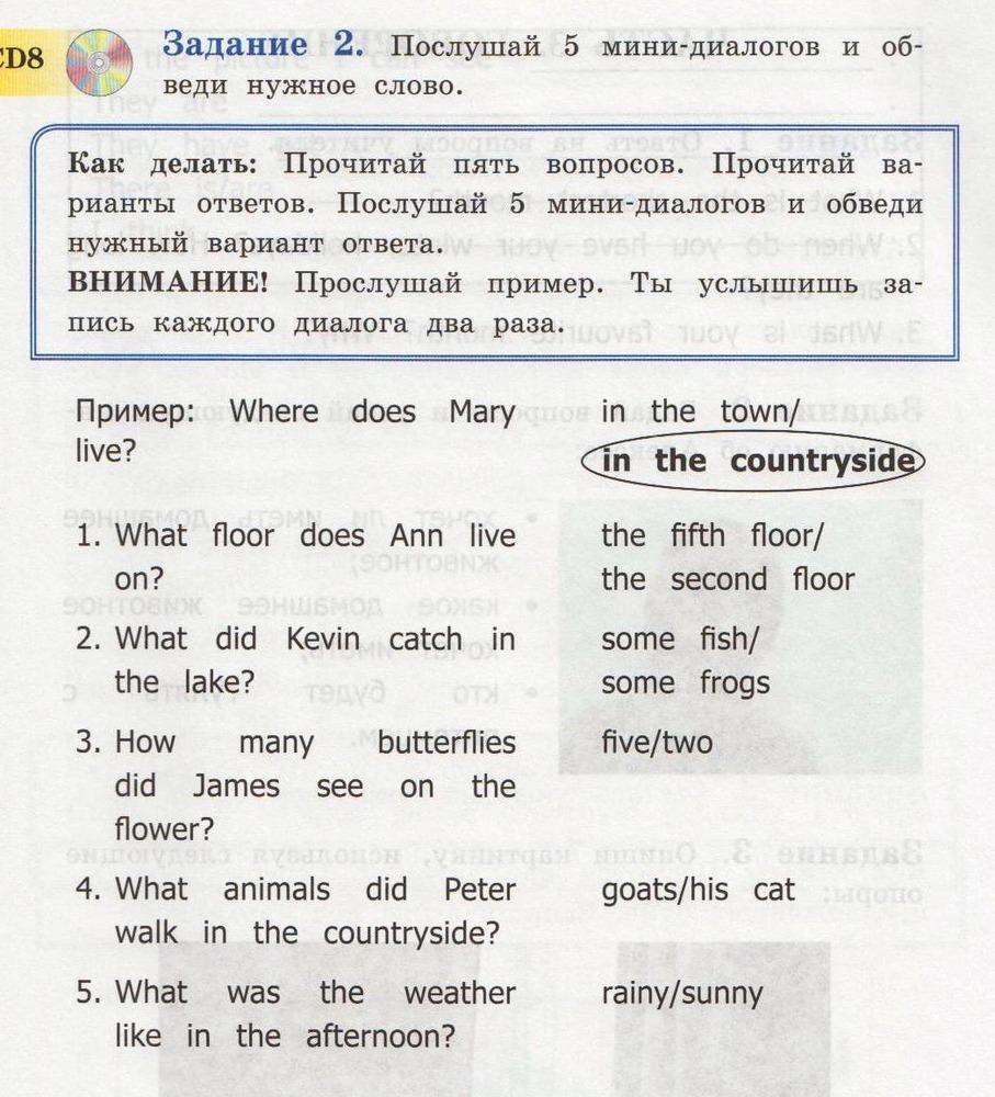Тексты для аудирования на английском языке 8 класс